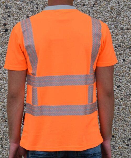 heren werkkleding rws shirt oranje achterkant