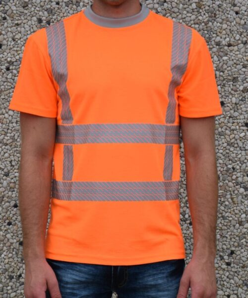 heren werkkleding rws shirt oranje voorkant