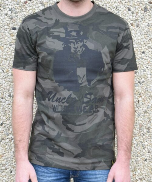 uncle sam heren camouflage t-shirt voorkant